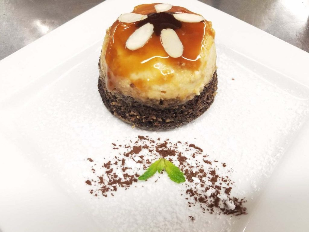 Chocoflan; vanilla flan over chocolate cake