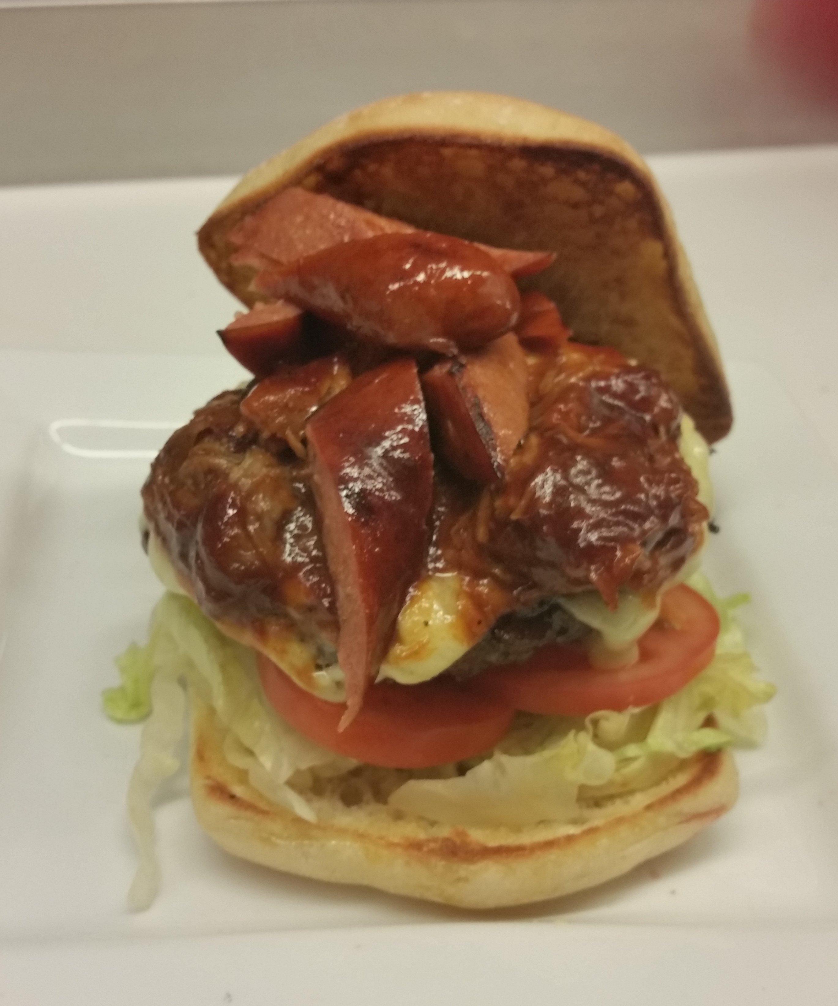Burger with Sausage
