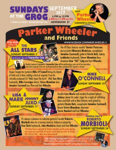 Parker Wheeler's Blues Party September 10 – Mike O'Connell